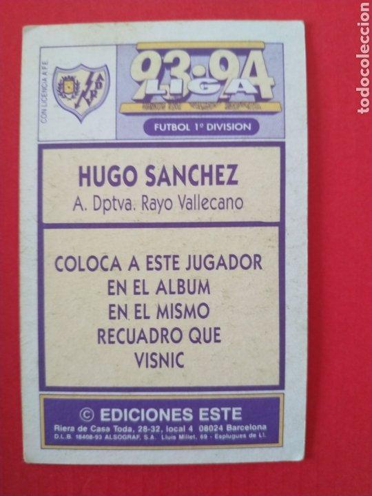 Coleccionismo deportivo: Cromo coloca Hugo Sánchez liga este 93 94 cartón - Foto 2 - 198806796
