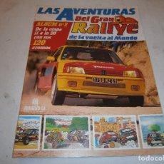 Coleccionismo deportivo: LAS AVENTURAS DEL GRAN RALLYE DE LA VUELTA AL MUNDO ALBUM Nº 2 INCOMPLETO (FALTAN 12 CROMOS). Lote 199769648