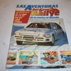 Coleccionismo deportivo: LAS AVENTURAS DEL GRAN RALLYE DE LA VUELTA AL MUNDO ALBUM Nº 2 INCOMPLETO (FALTAN 12 CROMOS). Lote 199769845