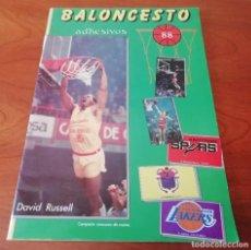 Coleccionismo deportivo: ALBUM BALONCESTO 88.FALTAN 4 CROMOS. PERFECTO ESTADO. Lote 199830560