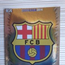 Coleccionismo deportivo: 856 ESCUDO BARCELONA B BRILLO LISO MUNDICROMO 2013 2014 PLATINUM 13 14. Lote 199834387