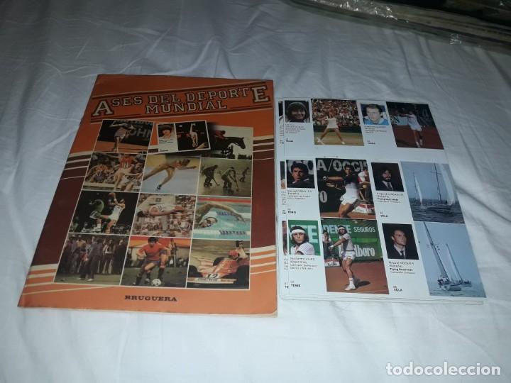 ALBUM VACIO PLANCHA + CASI TODA LA COLECCIÓN NUEVA SIN PEGAR DE ASES DEL DEPORTE MUNDIAL DE BRUGUERA (Coleccionismo Deportivo - Álbumes otros Deportes)