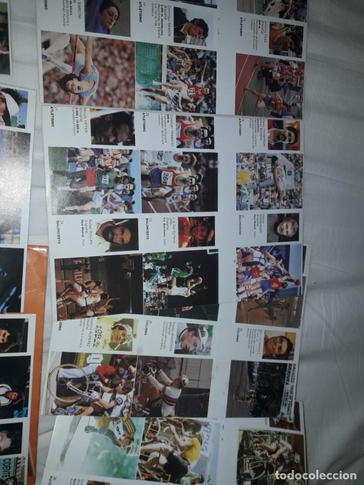 Coleccionismo deportivo: ALBUM VACIO PLANCHA + CASI TODA LA COLECCIÓN NUEVA SIN PEGAR DE ASES DEL DEPORTE MUNDIAL DE BRUGUERA - Foto 3 - 203074113