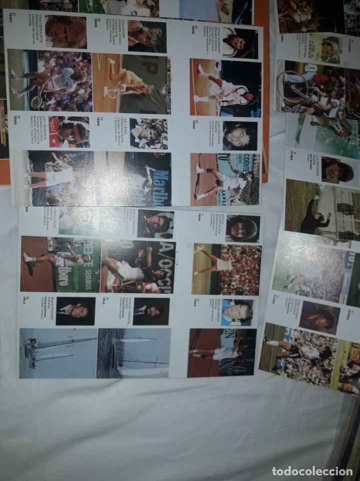 Coleccionismo deportivo: ALBUM VACIO PLANCHA + CASI TODA LA COLECCIÓN NUEVA SIN PEGAR DE ASES DEL DEPORTE MUNDIAL DE BRUGUERA - Foto 7 - 203074113