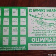 Coleccionismo deportivo: ÁLBUM EL HOMBRE VOLADOR OLIMPIADA ( VACÍO PLANCHA ). Lote 203137452