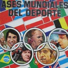 Coleccionismo deportivo: ASES MUNDIALES DEL DEPORTE-ALBUM CON POCOS CROMOS-EDICIONES QUELCOM-VER FOTOS-(V-20.026). Lote 204321492