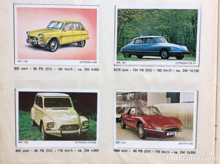 Coleccionismo deportivo: Álbum coches años 60 - míticos Renault R4, R6, R12, Citroen Dyane, Simca 1000, Fiat 500,124 una joya - Foto 7 - 204408606