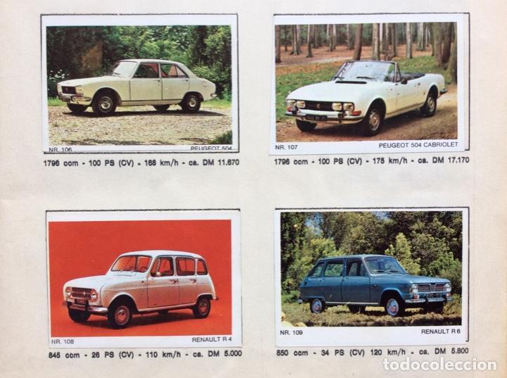 Coleccionismo deportivo: Álbum coches años 60 - míticos Renault R4, R6, R12, Citroen Dyane, Simca 1000, Fiat 500,124 una joya - Foto 8 - 204408606