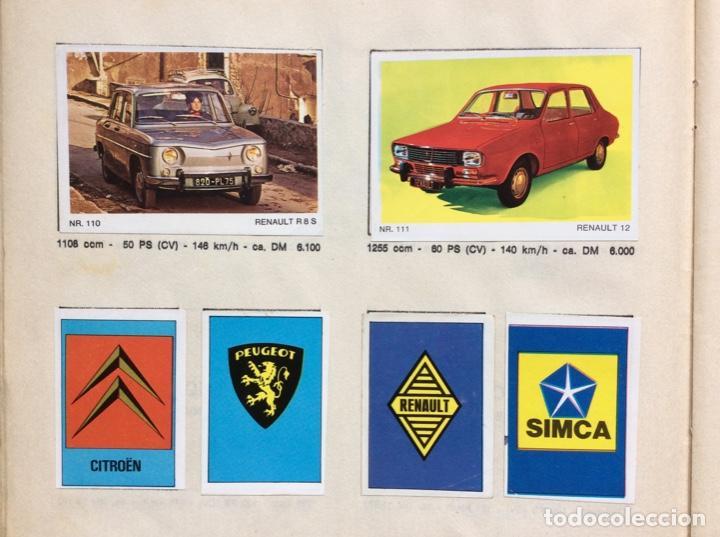 Coleccionismo deportivo: Álbum coches años 60 - míticos Renault R4, R6, R12, Citroen Dyane, Simca 1000, Fiat 500,124 una joya - Foto 9 - 204408606