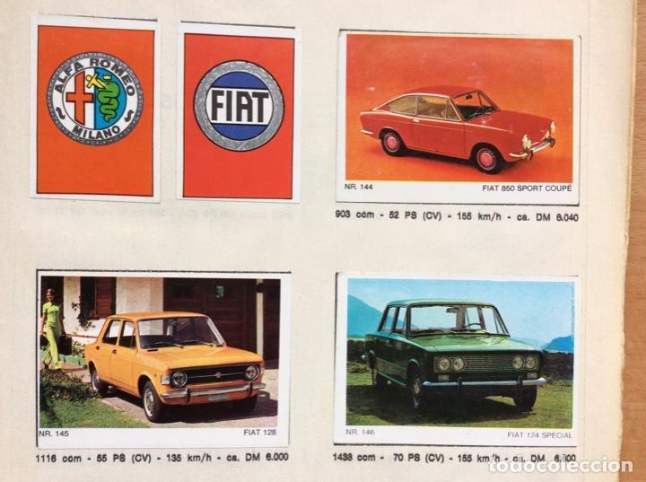 Coleccionismo deportivo: Álbum coches años 60 - míticos Renault R4, R6, R12, Citroen Dyane, Simca 1000, Fiat 500,124 una joya - Foto 11 - 204408606