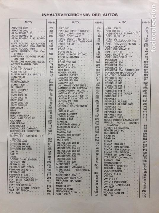 Coleccionismo deportivo: Álbum coches años 60 - míticos Renault R4, R6, R12, Citroen Dyane, Simca 1000, Fiat 500,124 una joya - Foto 23 - 204408606