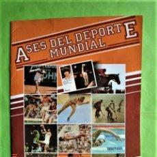 Collezionismo sportivo: ÁLBUM ASES DEL DEPORTE INCOMPLETO. BRUGUERA.1983. Lote 204456420