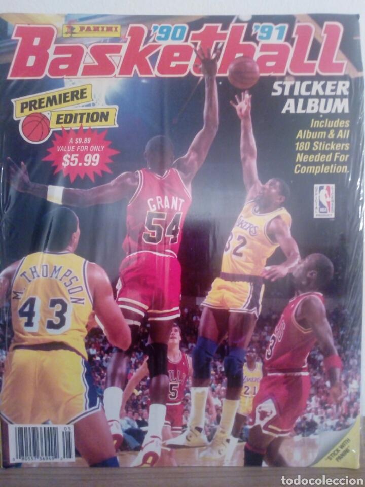 PRECINTADO ALBUM VACIO + COLECCION COMPLETA SIN PEGAR NBA PANINI 90-91 ALBUM & ALL STICKERS SEALED!! (Coleccionismo Deportivo - Álbumes otros Deportes)