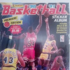 Coleccionismo deportivo: PRECINTADO ALBUM VACIO + COLECCION COMPLETA SIN PEGAR NBA PANINI 90-91 ALBUM & ALL STICKERS SEALED!!. Lote 205204557