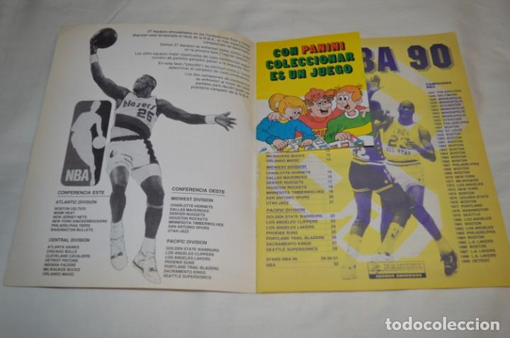 Coleccionismo deportivo: PANINI BASKET / NBA 90 - Buen estado, casi completo / Solo faltan 3 cromos (82, 91 y 190) ¡Mira! - Foto 3 - 205780841