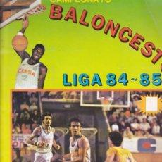 Coleccionismo deportivo: ALBUM INCOMPLETO CAMPEONATO BALONCESTO LIGA 84-85 MERCHANTE CLESA. Lote 205820511