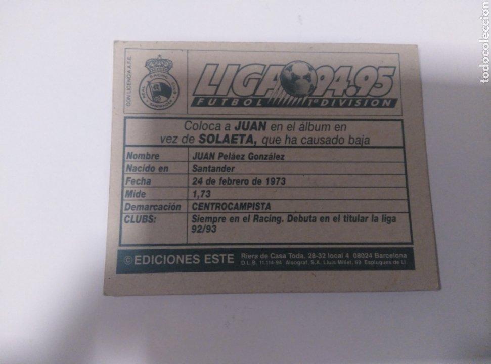 Coleccionismo deportivo: Cromo ediciones este liga 94 95 coloca Juan Racing Santander sin pegar - Foto 2 - 205871747