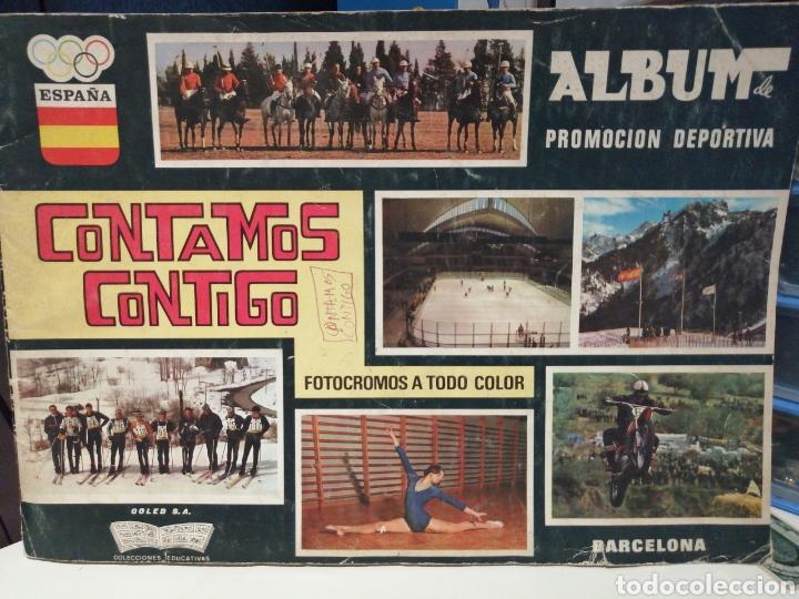 ALBUM DE CROMOS COMPLETO CONTAMOS CONTIGO (Coleccionismo Deportivo - Álbumes otros Deportes)