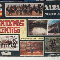 Coleccionismo deportivo: ALBUM DE CROMOS COMPLETO CONTAMOS CONTIGO. Lote 207324041
