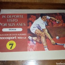Coleccionismo deportivo: ÁLBUM NESTLÉ - CHOCOSPORT- ÁLBUM 7 TENIS. Lote 210242863