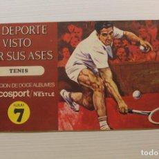 Coleccionismo deportivo: EL DEPORTE VISTO POR SUS ASES, TENIS, ÁLBUM 7, COMPLETO. Lote 210590367