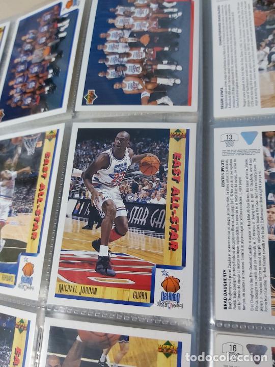 Coleccionismo deportivo: Album NBA 91-92 Upper Deck completo con los hologramas + 2 sobres de regalo - JORDAN - Foto 6 - 211260212