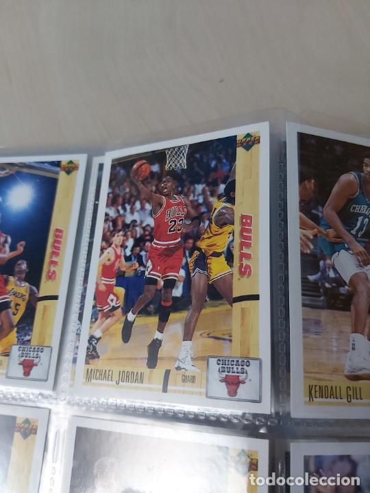 Coleccionismo deportivo: Album NBA 91-92 Upper Deck completo con los hologramas + 2 sobres de regalo - JORDAN - Foto 7 - 211260212