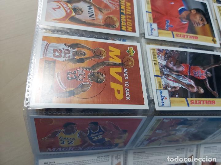 Coleccionismo deportivo: Album NBA 91-92 Upper Deck completo con los hologramas + 2 sobres de regalo - JORDAN - Foto 8 - 211260212