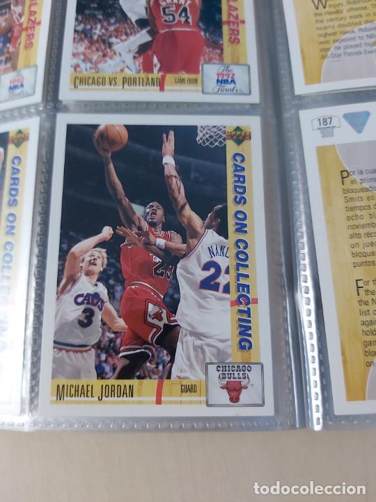 Coleccionismo deportivo: Album NBA 91-92 Upper Deck completo con los hologramas + 2 sobres de regalo - JORDAN - Foto 14 - 211260212