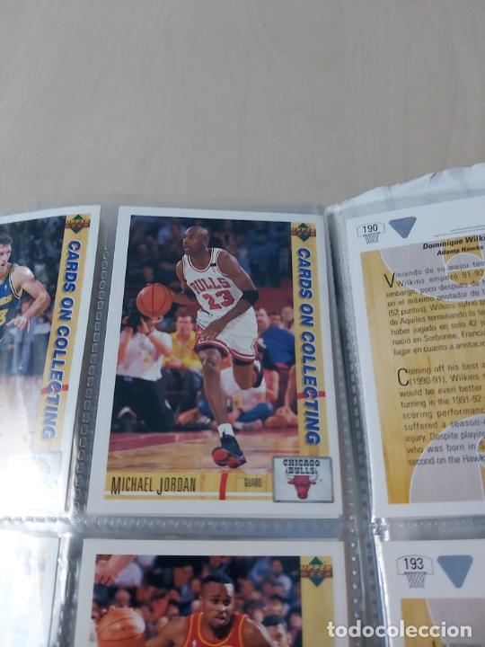 Coleccionismo deportivo: Album NBA 91-92 Upper Deck completo con los hologramas + 2 sobres de regalo - JORDAN - Foto 15 - 211260212