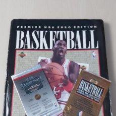 Coleccionismo deportivo: ALBUM NBA 91-92 UPPER DECK COMPLETO CON LOS HOLOGRAMAS + 2 SOBRES DE REGALO - JORDAN. Lote 211260212
