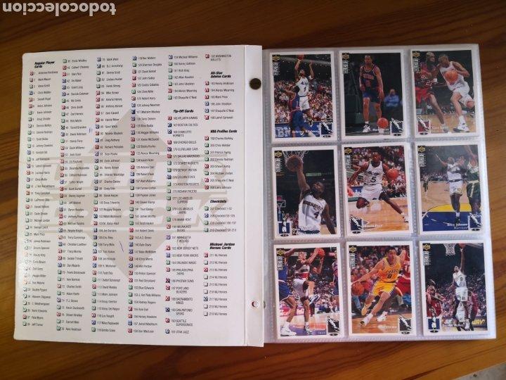Coleccionismo deportivo: ALBUM NBA BASKETBALL 94-95 UPPER DECK CASI COMPLETO CON 3 CROMOS DE JORDAN - Foto 4 - 212516333