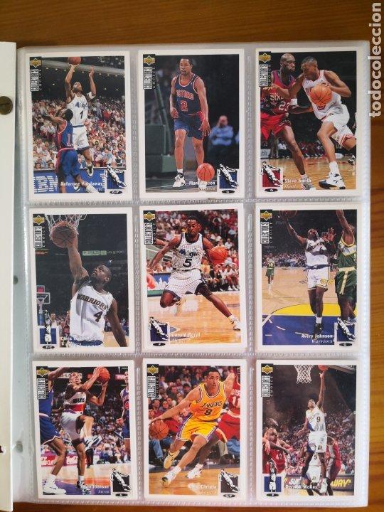 Coleccionismo deportivo: ALBUM NBA BASKETBALL 94-95 UPPER DECK CASI COMPLETO CON 3 CROMOS DE JORDAN - Foto 5 - 212516333