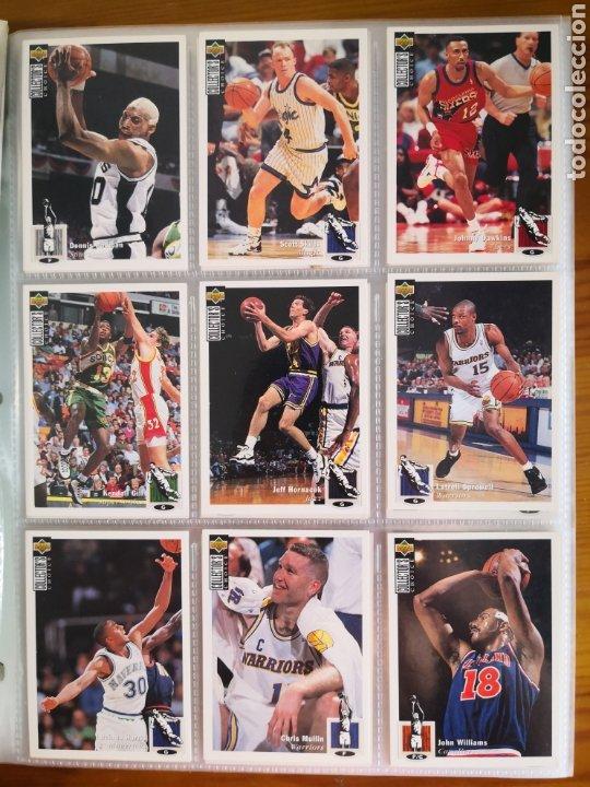 Coleccionismo deportivo: ALBUM NBA BASKETBALL 94-95 UPPER DECK CASI COMPLETO CON 3 CROMOS DE JORDAN - Foto 6 - 212516333