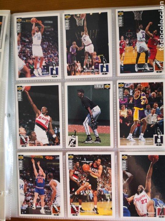 Coleccionismo deportivo: ALBUM NBA BASKETBALL 94-95 UPPER DECK CASI COMPLETO CON 3 CROMOS DE JORDAN - Foto 7 - 212516333
