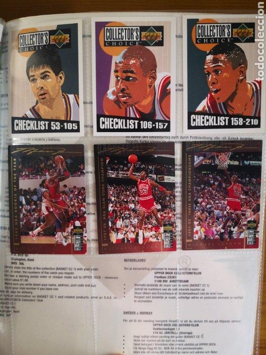 Coleccionismo deportivo: ALBUM NBA BASKETBALL 94-95 UPPER DECK CASI COMPLETO CON 3 CROMOS DE JORDAN - Foto 9 - 212516333