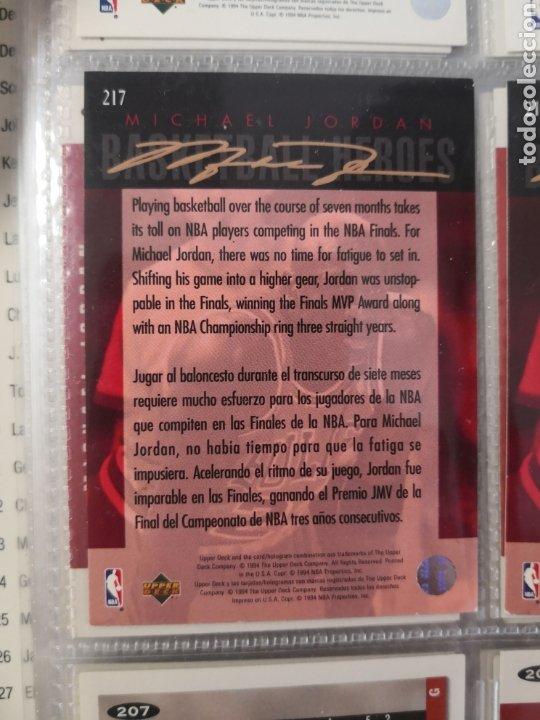 Coleccionismo deportivo: ALBUM NBA BASKETBALL 94-95 UPPER DECK CASI COMPLETO CON 3 CROMOS DE JORDAN - Foto 13 - 212516333