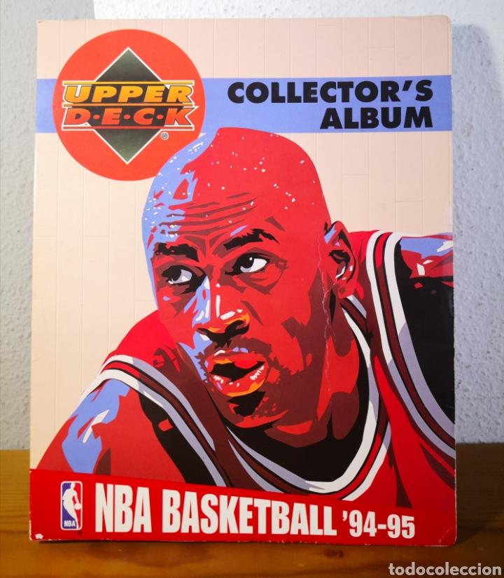 ALBUM NBA BASKETBALL 94-95 UPPER DECK CASI COMPLETO CON 3 CROMOS DE JORDAN (Coleccionismo Deportivo - Álbumes otros Deportes)