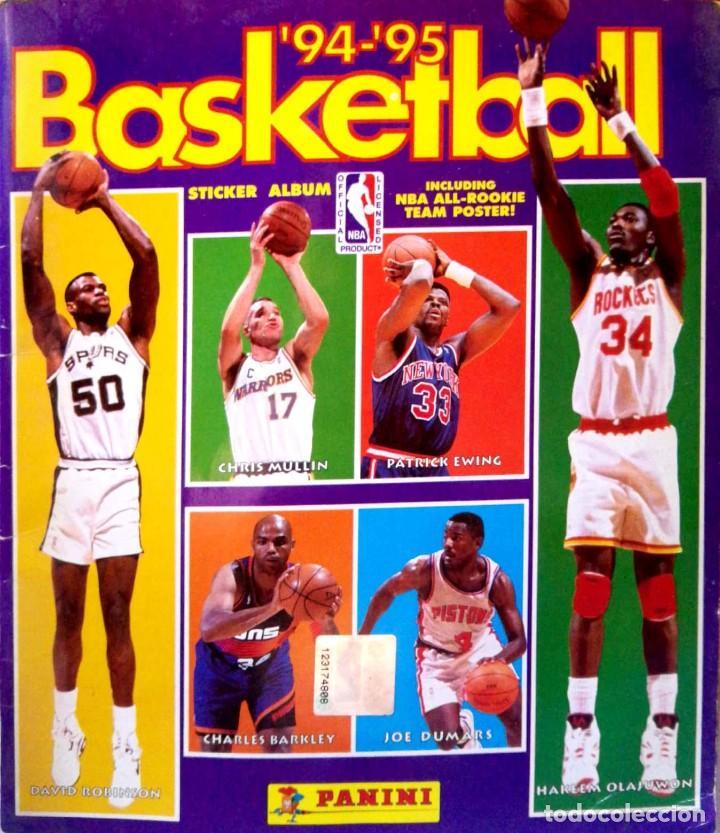 ALBUM COMPLETO - BASKETBALL NBA 94 95 1994 1995 - PANINI - BUEN ESTADO VER FOTOS (Coleccionismo Deportivo - Álbumes otros Deportes)