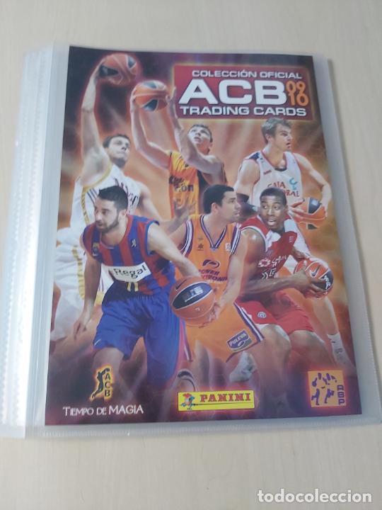 ALBUM ARCHIVADOR LIGA ACB 09 10 PANINI - PANINI - TRADING CARDS - VACIO MUY NUEVO (Coleccionismo Deportivo - Álbumes otros Deportes)