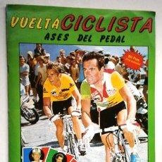 Coleccionismo deportivo: ALBUM VUELTA CICLISTA / ASES DEL PEDAL CON MÁS DE LA MITAD DE LOS CROMOS / J. MERCHANTE, MADRID 1987. Lote 213740771