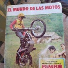Collezionismo sportivo: ÁLBUM DE CROMOS EL MUNDO DE LAS MOTOS DE BIMBO 1975 FALTAN 11 CROMOS. Lote 214537002