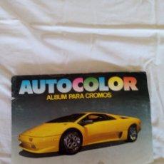 Coleccionismo deportivo: ALBUM COCHES AUTOCOLOR. Lote 215093400
