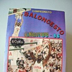 Collectionnisme sportif: BALONCESTO LIGA 85 86 ALBUM COMPLETO MERCHANTE BASKET 1985 1986 NBA CROMO MICHAEL JORDAN ROOKIE. Lote 215143118