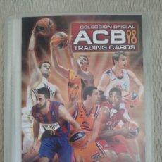 Coleccionismo deportivo: ALBUM ARCHIVADOR LIGA ACB 09 10 PANINI + 72 TRADING CARDS. Lote 215236896