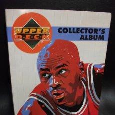 Coleccionismo deportivo: ALBUM DE CROMOS BALONCESTO NBA BASKETBALL 94-95 COLLECTOR'S UPPER DECK MAS HOJA CASI COMPLETO CARDS. Lote 215344001