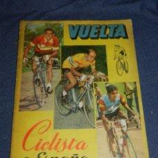 Coleccionismo deportivo: ALBUM VUELTA CICLISTA A ESPAÑA 1959 EDT FHER, CONTIENE 126 CROMOS DE 201, SEÑALES DE USO. Lote 216552988