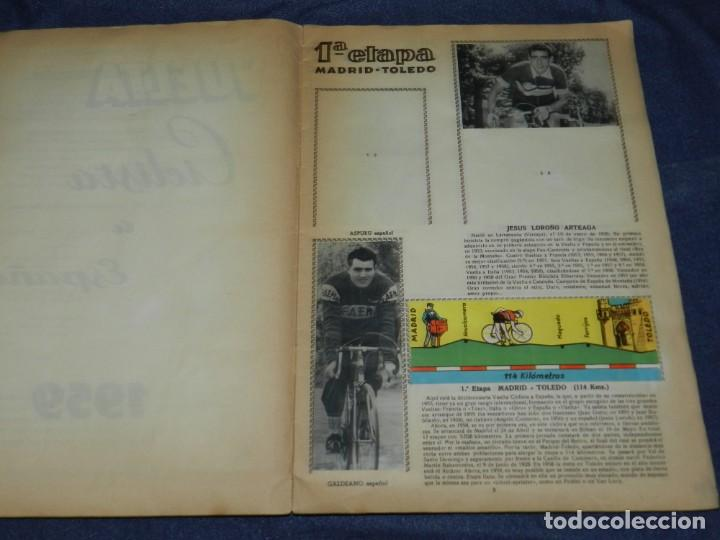 Coleccionismo deportivo: ALBUM VUELTA CICLISTA A ESPAÑA 1959 EDT FHER, CONTIENE 126 CROMOS DE 201, SEÑALES DE USO - Foto 2 - 216552988