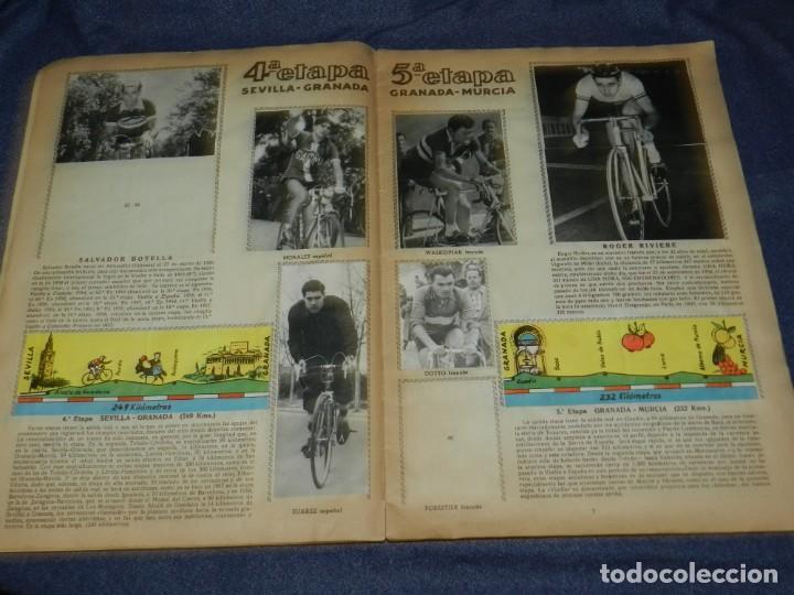 Coleccionismo deportivo: ALBUM VUELTA CICLISTA A ESPAÑA 1959 EDT FHER, CONTIENE 126 CROMOS DE 201, SEÑALES DE USO - Foto 3 - 216552988