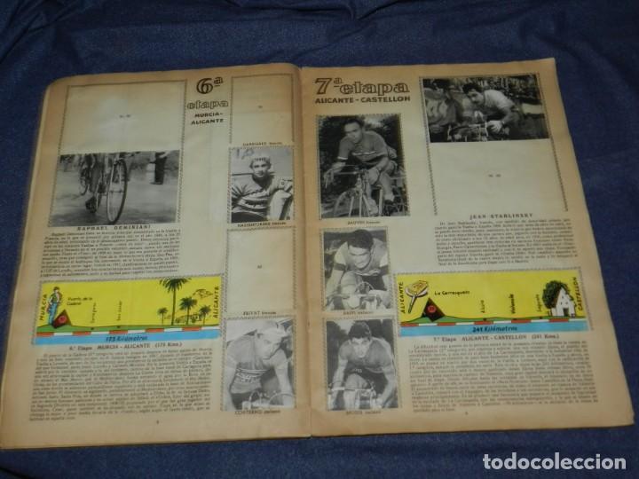 Coleccionismo deportivo: ALBUM VUELTA CICLISTA A ESPAÑA 1959 EDT FHER, CONTIENE 126 CROMOS DE 201, SEÑALES DE USO - Foto 4 - 216552988